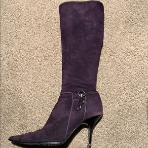 "Vero Cuoio Dark Purple Suede 3"" High Boots"